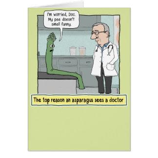 Funny Asparagus Pee Get Well Soon Card