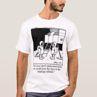 Funny Astronaut Cartoon T-Shirt