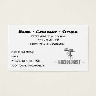 Funny Astronomy Business Card