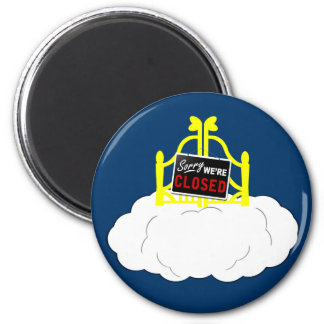 Funny atheism 6 cm round magnet