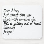 Funny atheist design mouse pad