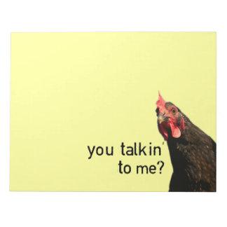 Funny Attitude Chicken Notepad