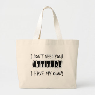 Funny Attitude T-shirts Gifts Canvas Bags