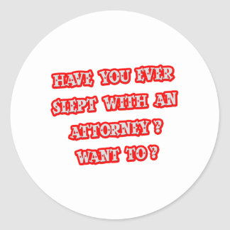 Funny Attorney Pick-Up Line Stickers