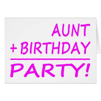 Funny Aunts Birthdays Aunt + Birthday Party Cards