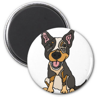 Funny Australian Cattle Dog Puppy Artwork Magnet