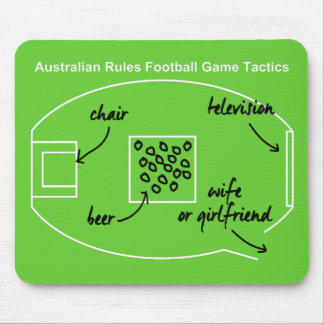 Funny Australian Rules Football game tactics Mousepad