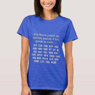 Funny Autism Parent Acronyms T-Shirt