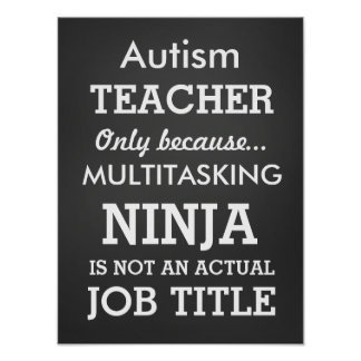 Funny Autism Special Needs Teacher Poster