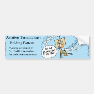 Funny Aviation Comic Bumper Sticker