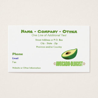 Funny Avocado Lover Business Card