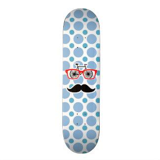 Funny Baby Blue Mustache; Hipster 19.7 Cm Skateboard Deck