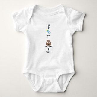 Funny baby bodysuit poo poop milk ice cream maker