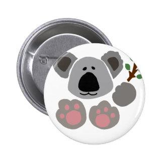 Funny Baby Koala Bear Art 6 Cm Round Badge