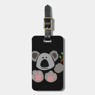 Funny Baby Koala Bear Art Luggage Tag