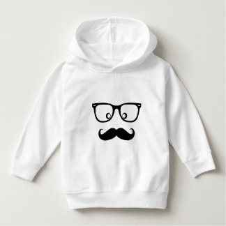 Funny Baby  mustache  Pullover Hoodie