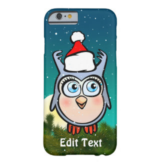 Funny Baby Owl With Santa Hat Barely There iPhone 6 Case
