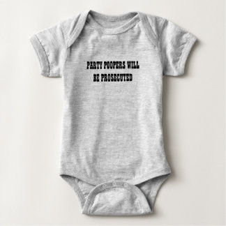 Funny Baby Shower Gift Party Pooper Western Style Baby Bodysuit