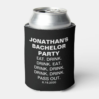 Funny Bachelor Party Eat Drink Pass Out Custom