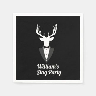 Funny Bachelor Stag Party Custom Paper Serviettes