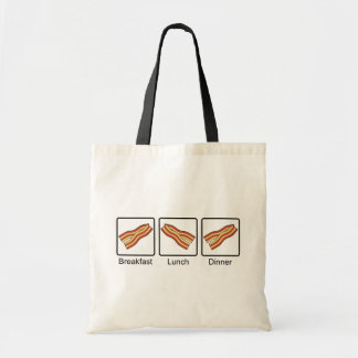Funny Bacon for Breakfast, Lunch and Dinner Budget Tote Bag