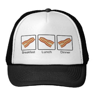 Funny Bacon for Breakfast, Lunch and Dinner Cap