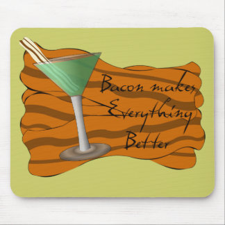 Funny Bacon Martini Mousepad