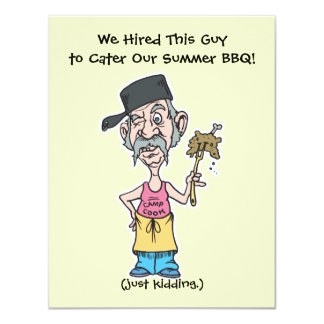 funny bad camp cook summer BBQ party 11 Cm X 14 Cm Invitation Card