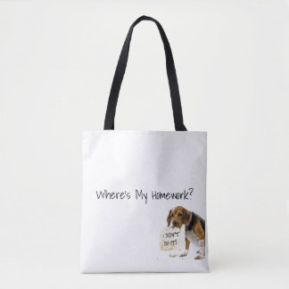 Funny Bad Dog Puppy I Didn't Do It Tote Book Bag