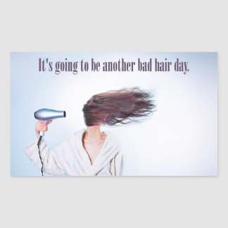 Funny Bad Hair Day stickers