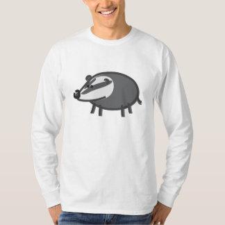 Funny Badger on White T-Shirt