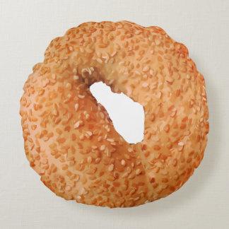 Funny Bagel Novelty Round Cushion