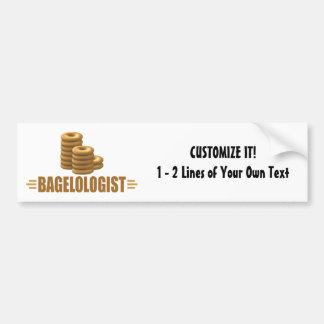 Funny Bagels Bumper Sticker
