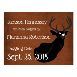 Funny Bagged Buck Save the Date Postcard