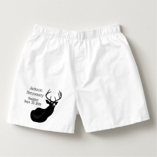 """Funny """"Bagged"""" Buck Wedding Party Boxers"""