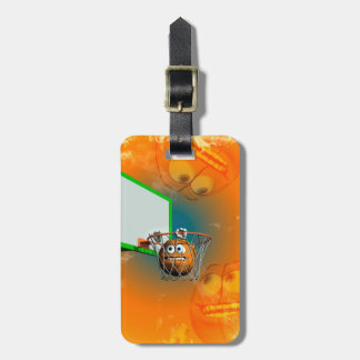 Funny baketball luggage tag