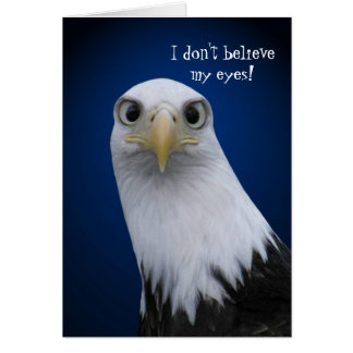 Funny Bald Eagle with Big Eyes Greeting Card