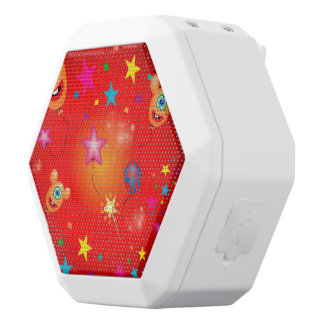 Funny balloons and stars white boombot rex bluetooth speaker