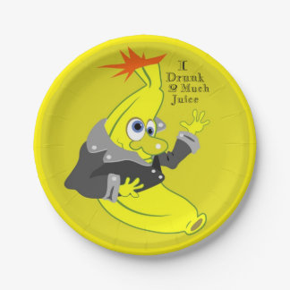 funny banana I drunk 2 much juice Paper Plate