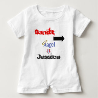 """Funny """"Bandit"""" Baby Romper for Twins Baby Bodysuit"""