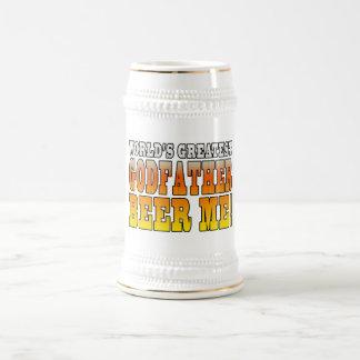 Funny Baptisms Birthdays Worlds Greatest Godfather Beer Steins