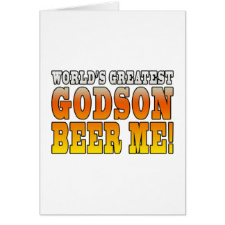 Funny Baptisms Birthdays Worlds Greatest Godson Note Card