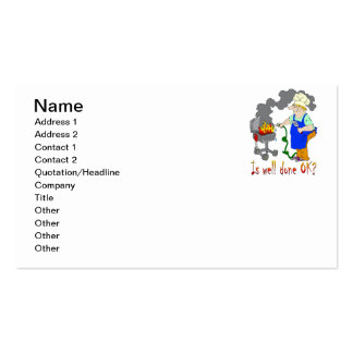 Funny Barbeque Design - Is Well Done OK? Pack Of Standard Business Cards