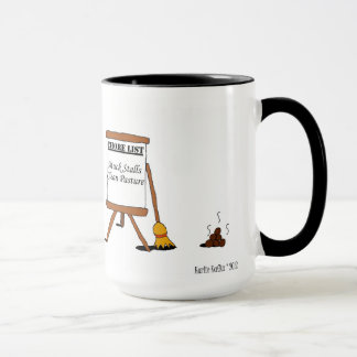 Funny Barn Chores Horse Cartoon Mug