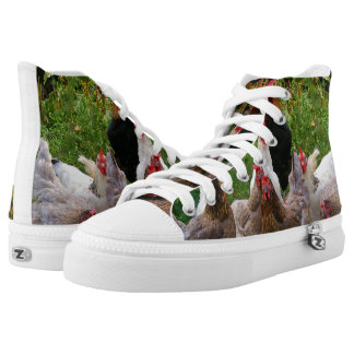 Funny Barnyard Chickens Sneakers Shoes