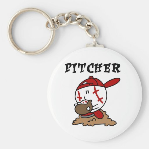 Funny Baseball Pitcher T-shirts and Gifts Keychains