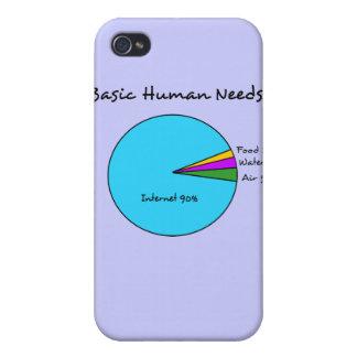Funny Basic Human Needs (90% Internet) iPhone 4 Case