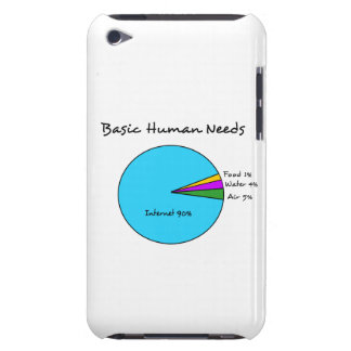 Funny Basic Human Needs for computer enthusiasts iPod Case-Mate Cases