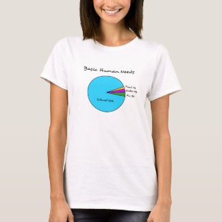 Funny Basic Human Needs for computer enthusiasts T-Shirt