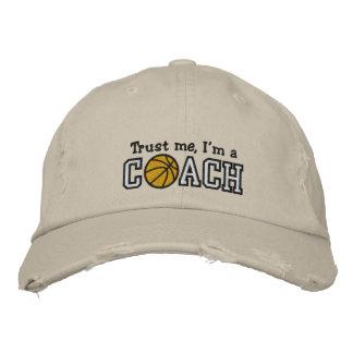 Funny Basketball Coach Embroidered Baseball Caps